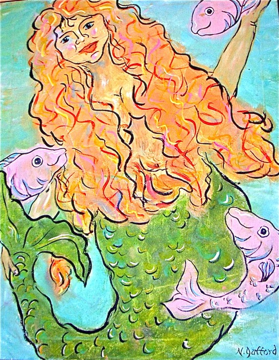 Mermaid Note card by Beach combers cove