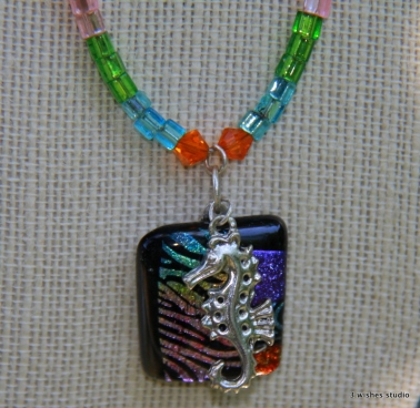 fused glass necklace 3 Wishes Studio