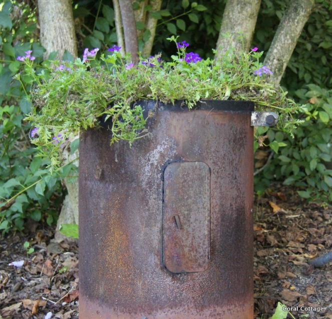 smoker turned into planter