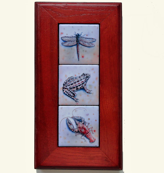 Framed mini art tiles by The Coastal Soul