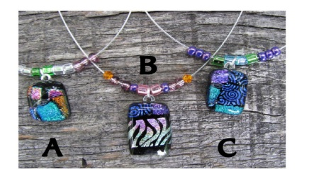 fused glass necklaces