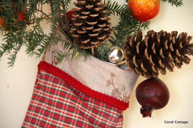 Traditional plaid stocking