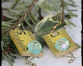 tape measure earings