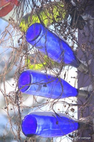 Bottles on the post
