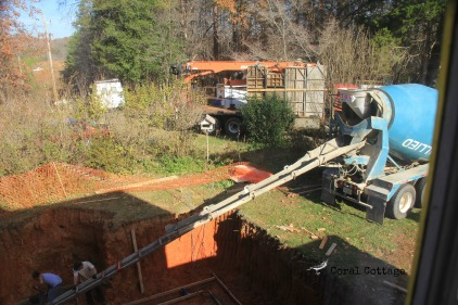 pouring footers