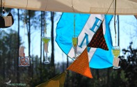 Suncatchers for sale at the egg stand