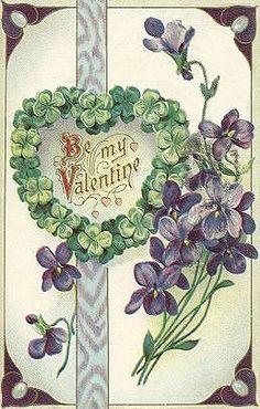 valentine card violets