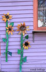 My handmade sunflowers on the studio