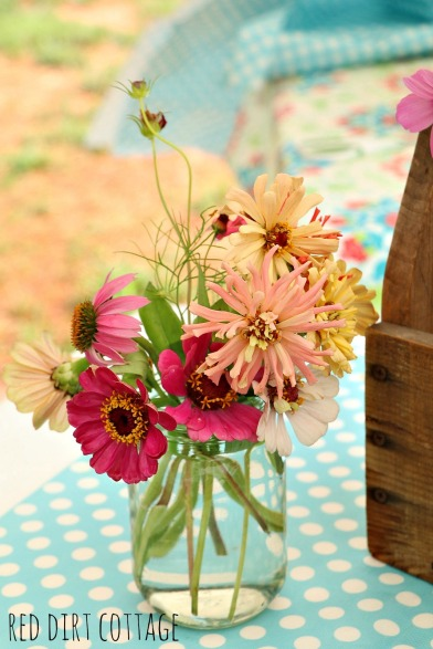 arrangement of flowers for sale at farmstand