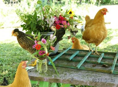 girls-help-arrange-flowers