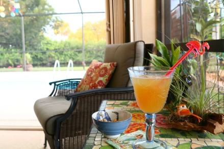 Cool drinks out on the lanai