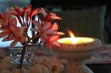 frangi pani and candle