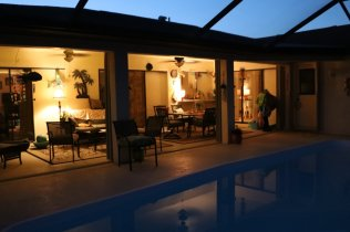 Our lanai at night