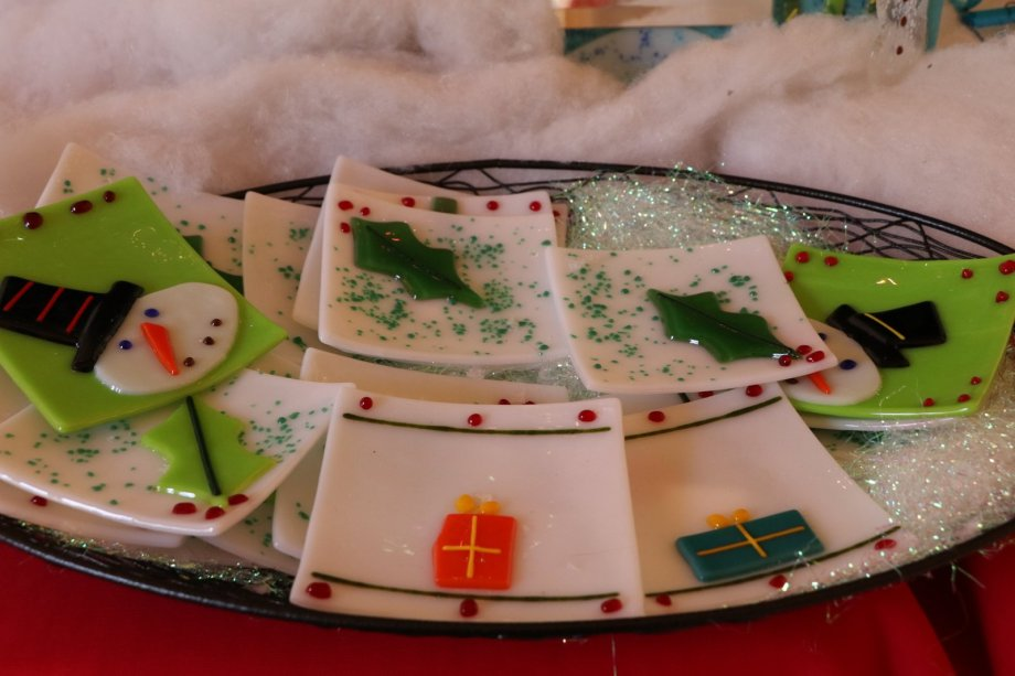 Fused Glass dishes from 3 Wishes Studio