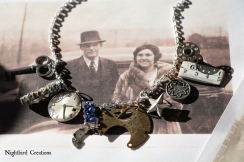 Rollin' in the Loot Assemblage necklace