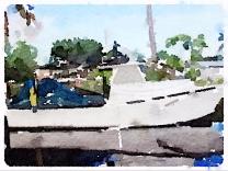Boat in Matlacha FL