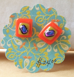 fused glass stud earrings from 3 Wishes Studio