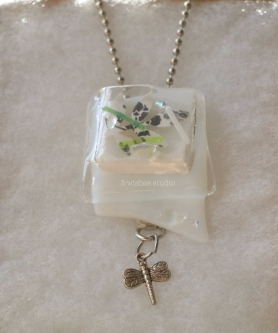 dragonfly pocket necklace