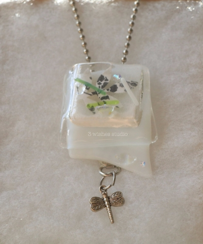 dragonfly pocket necklace