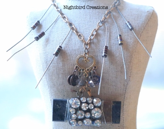Edith Ivy assemblage necklace