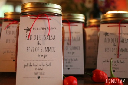 Red Dirt Salsa at the farm stand