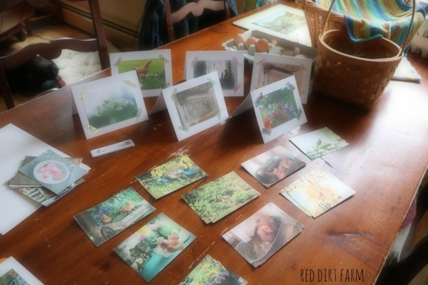 Kim's handmade note cards