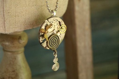 Bee Keepers Necklace - mixed media