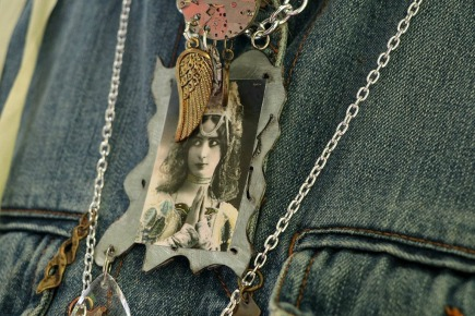 Gypsy Spirit mixed media necklace