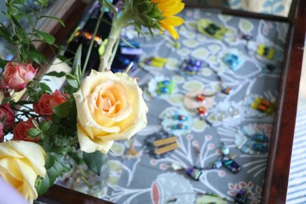 Flowers and Fused Glass