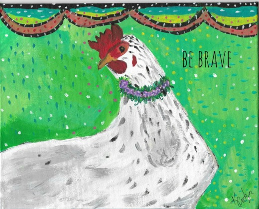 Bee Be Brave greeting card