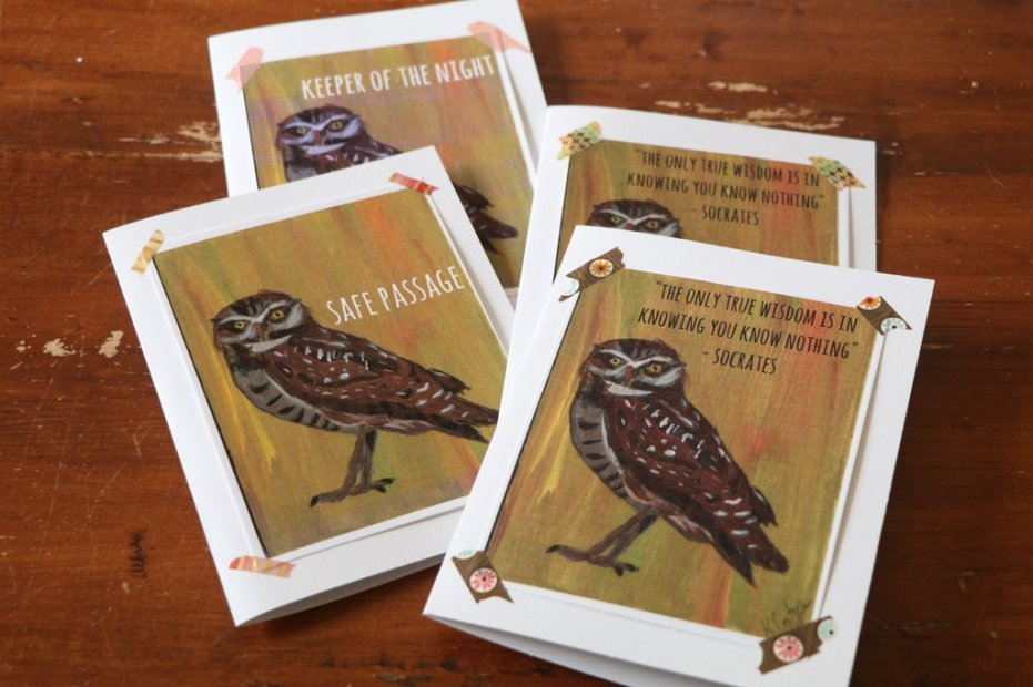 Owl greeting cards