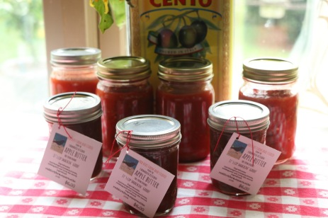 apple butter and salsa