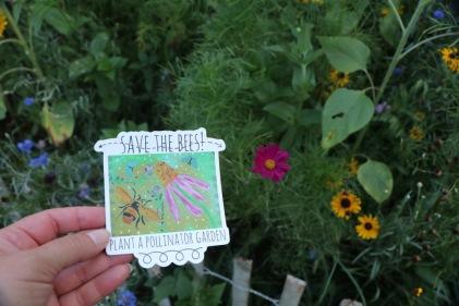 sticker by kim plant a pollinator garaden
