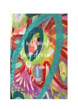 Greeting Card made from Kim's Painting