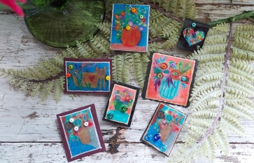 Brooches made from my paintings