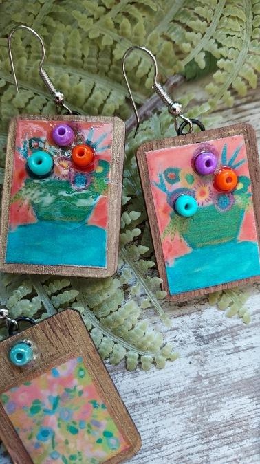 Floral Still life earrings