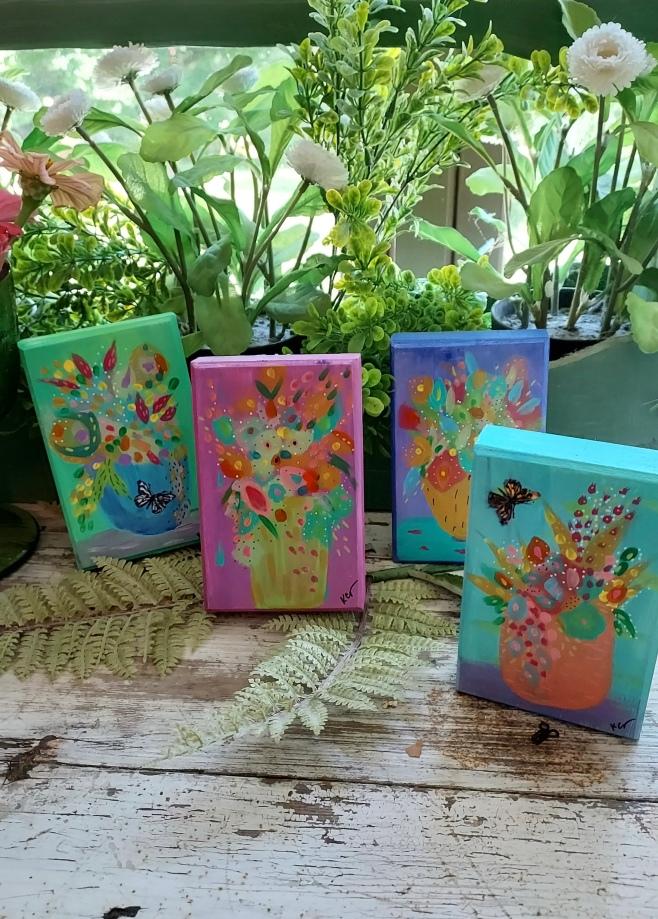 group floral still life